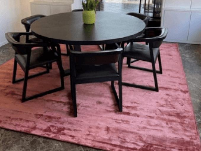Vantyghem Fashionable Flooring effen tapijt Bamboe zijde Baked clay vierkant tapijt 280x280