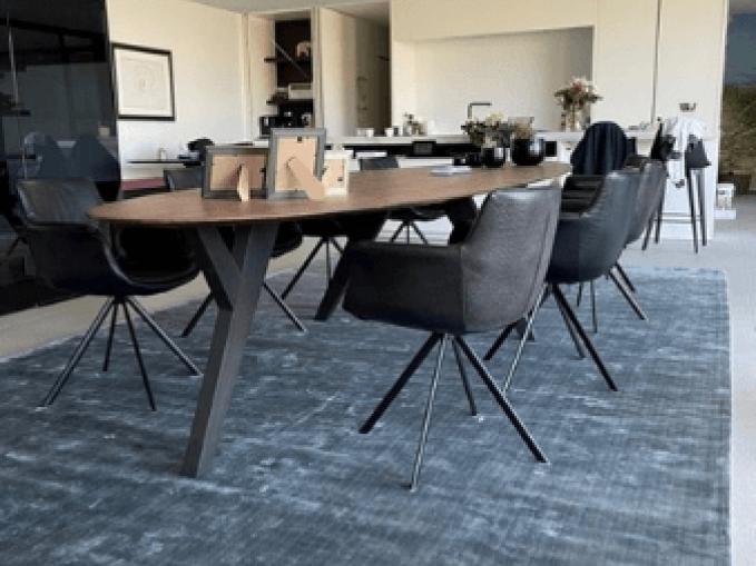 Vantyghem Fashionable Flooring effen tapijt Bamboe zijde Deep depths 290x460 groot tapijt op maat