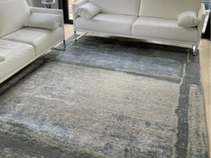 Creative designs by Michèle Lambrecht handgeknoopt tapijt wol en zijde Room with a view handgesneden reliëf