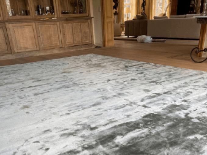 Vantyghem Fashionable Flooring effen bamboe zijde tapijt grijsgroen