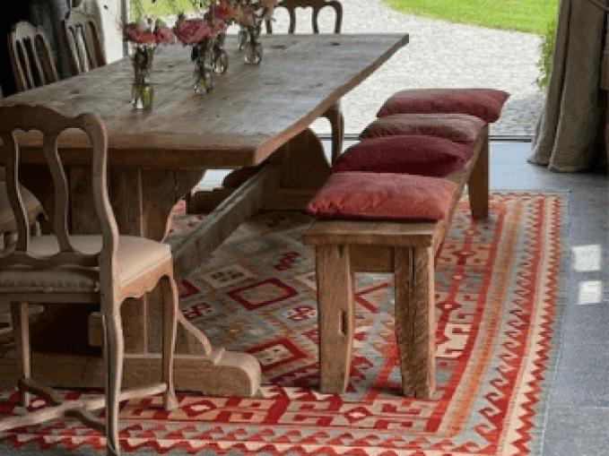 kleurrijke kelim Vantyghem Fashionable Flooring
