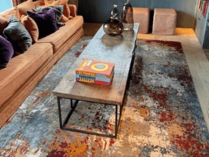 kleurrijk handgeknoopt tapijt multi Vantyghem Fashionable Flooring