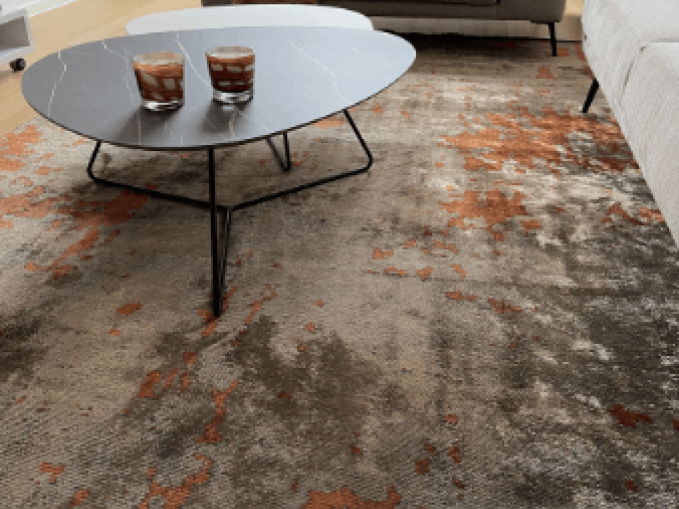 mechanisch modern tapijt kleur roestbruin Vantyghem Fashionable Flooring