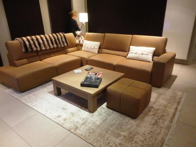 Handgeknoopt tapijt in bamboo zijde