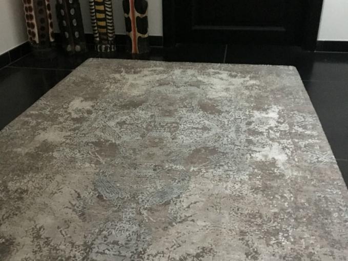 handgeknoopt tapijt glamour in wol en zijde