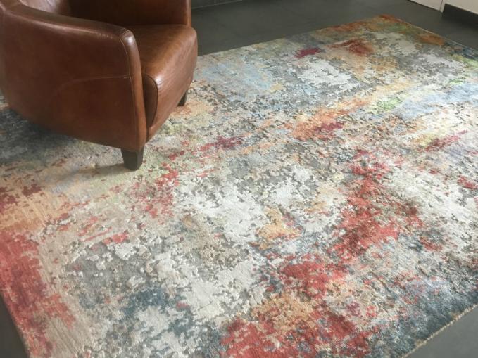 handgeknoopt tapijt multi kleuren
