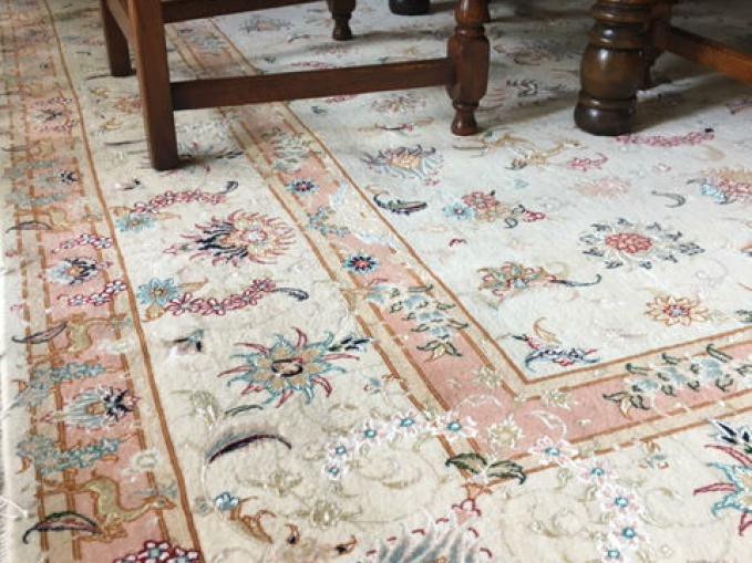 handgeknoopt tapijt tabriz
