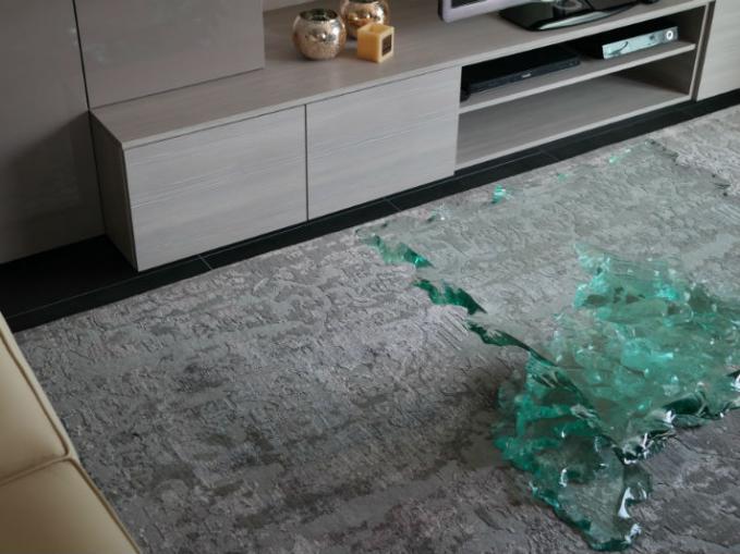 handgeknoopt tapijt in wol en bamboe zijde