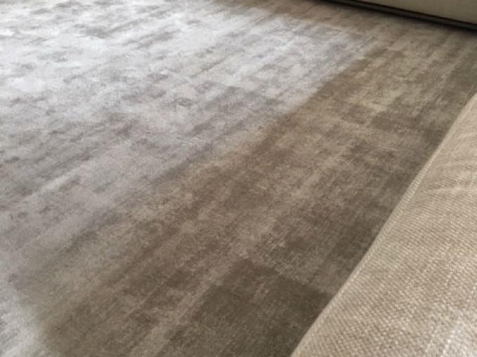 handgemaakt tapijt effen viscose grijs