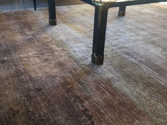 tapijt wave in bamboe zijde